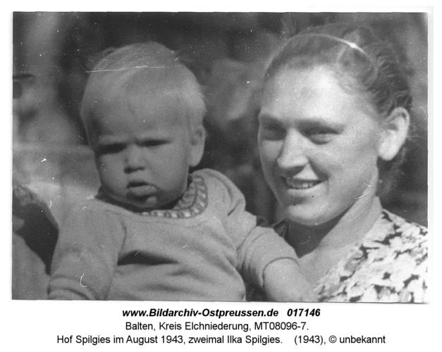 Balten, Hof Spilgies im August 1943, zweimal Ilka Spilgies