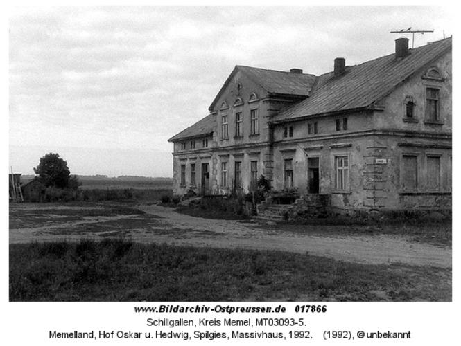 Schillgallen, Memelland, Hof Oskar u. Hedwig, Spilgies, Massivhaus, 1992
