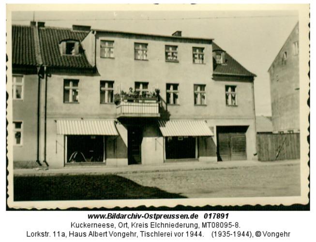 Kuckerneese, Lorkstr. 11a, Haus Albert Vongehr, Tischlerei vor 1944