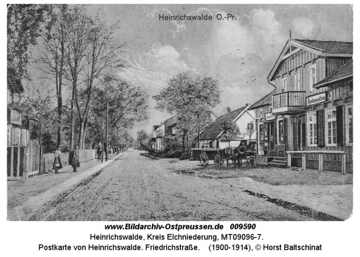 Postkarte von Heinrichswalde. Friedrichstraße