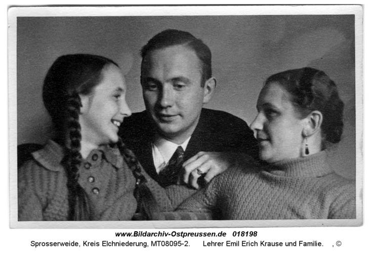 Sprosserweide, Lehrer Emil Erich Krause und Familie