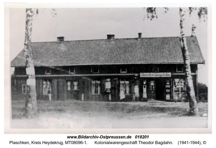 Plaschken, Kolonialwarengeschäft Theodor Bagdahn