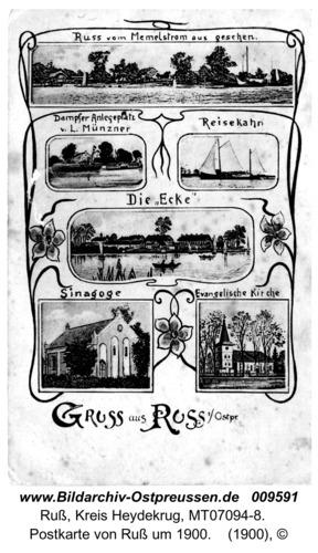 Postkarte von Ruß um 1900
