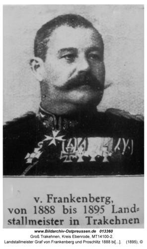 Groß Trakehnen, Landstallmeister Graf von Frankenberg und Proschlitz 1888 bis 1895