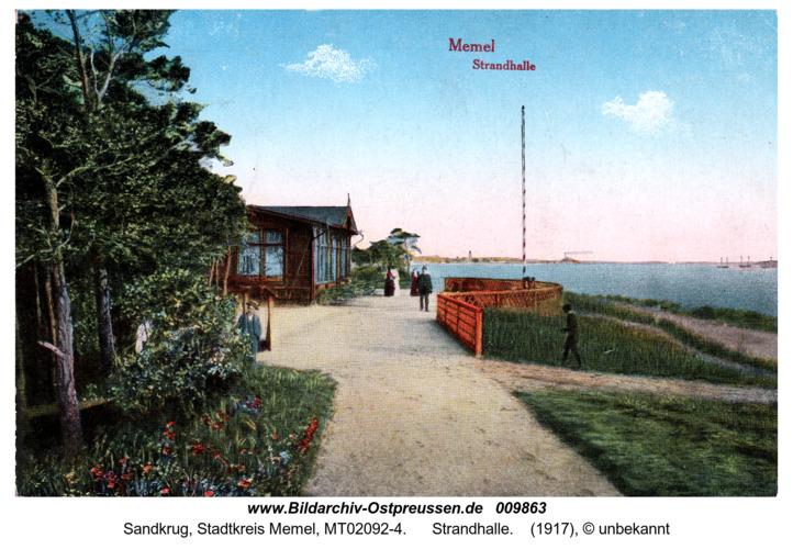 Memel mit Strandhalle.1917