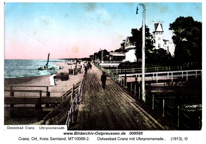 Cranz, Ostseebad mit Uferpromenade