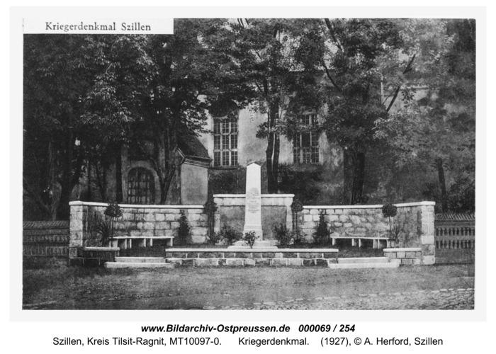 Schillen, Kriegerdenkmal