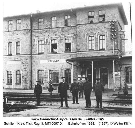 Schillen, Bahnhof vor 1938