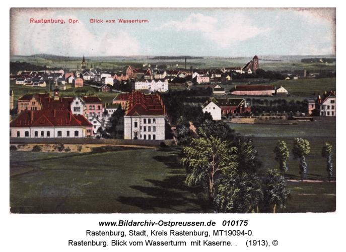 Rastenburg, Blick vom Wasserturm auf Kaserne