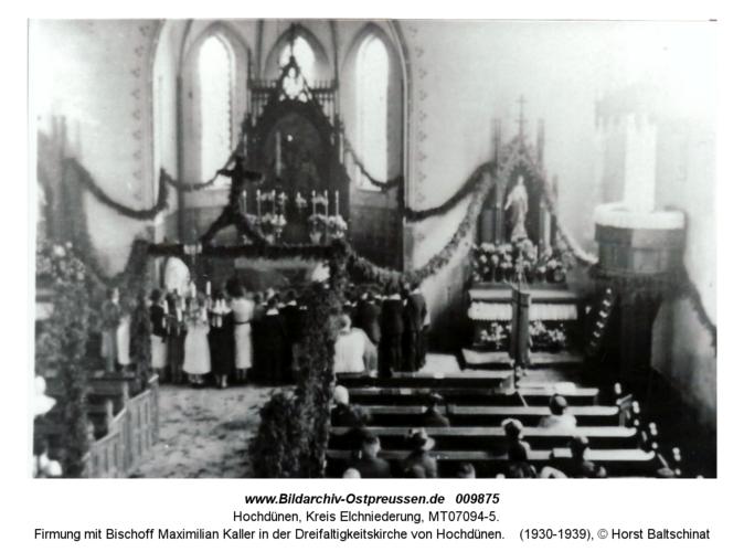 Firmung mit Bischoff Maximilian Kaller in der Dreifaltigkeitskirche von Hochdünen
