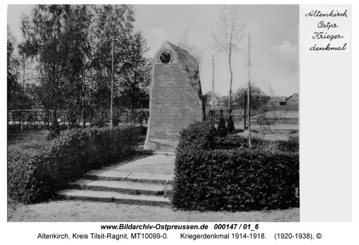 Altenkirch, Kriegerdenkmal 1914-1918