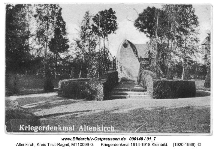 Altenkirch, Kriegerdenkmal 1914-1918 Kleinbild