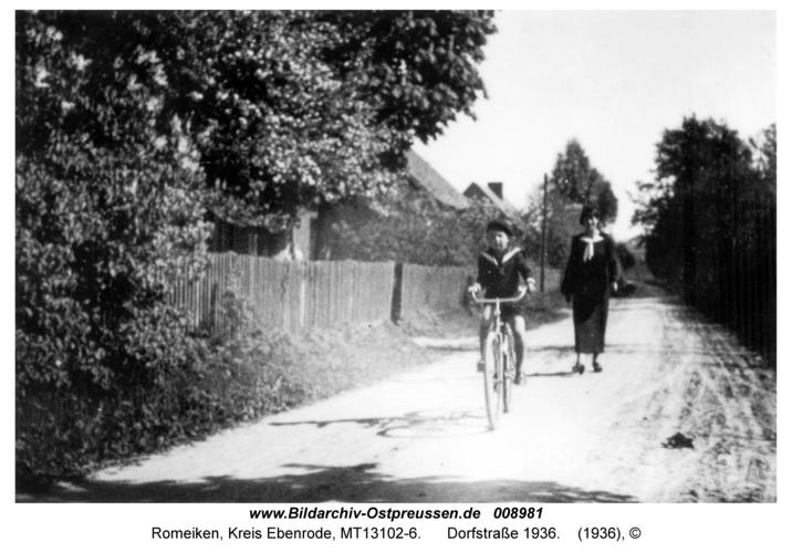 Romeiken, Dorfstraße 1936