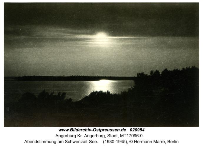 Angerburg Kr. Angerburg, Abendstimmung am Schwenzait-See