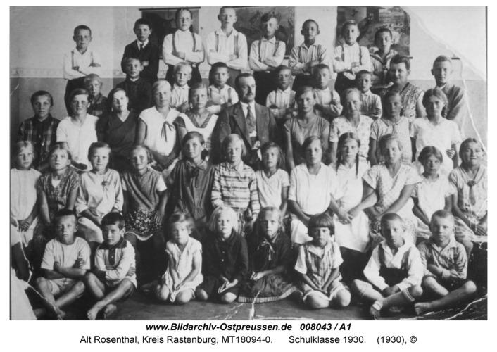 Alt Rosenthal, Schule, Klasse von 1930