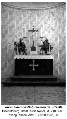 Bischofsburg, evang. Kirche, Altar