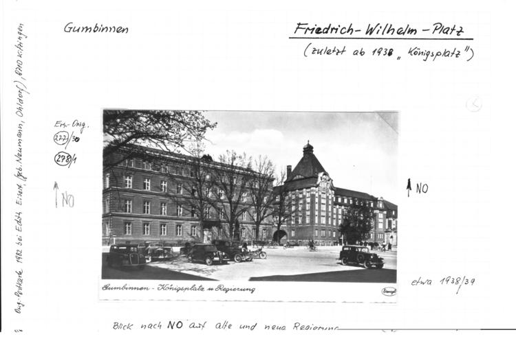 Gumbinnen, Königsplatz und Regierung