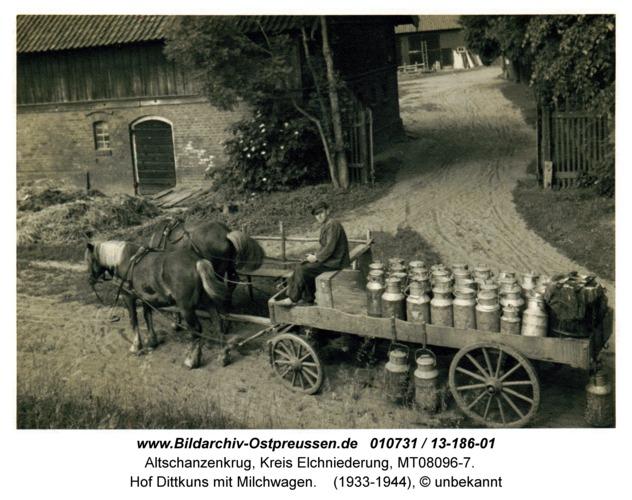 Altschanzenkrug, Hof Dittkuns mit Milchwagen