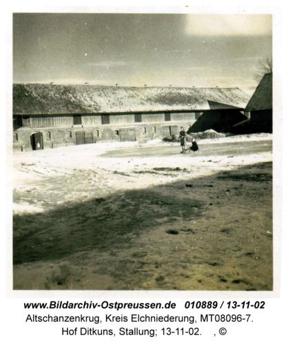 Altschanzenkrug, Hof Ditkuns, Stallung; 13-11-02