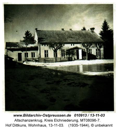 Altschanzenkrug, Hof Dittkuns, Wohnhaus, 13-11-03