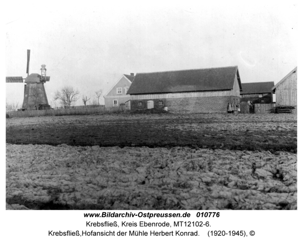 Krebsfließ, Hofansicht der Mühle Herbert Konrad