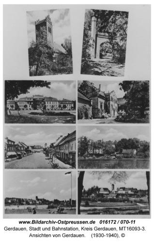 Ansichten von Gerdauen