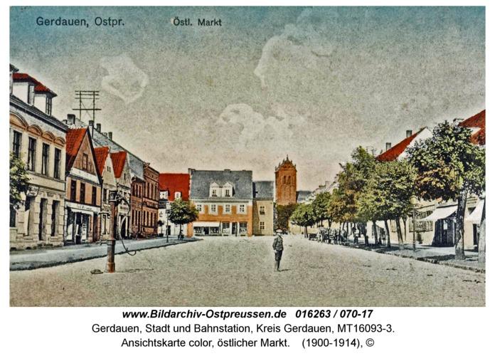 Gerdauen, Ansichtskarte color, östlicher Markt