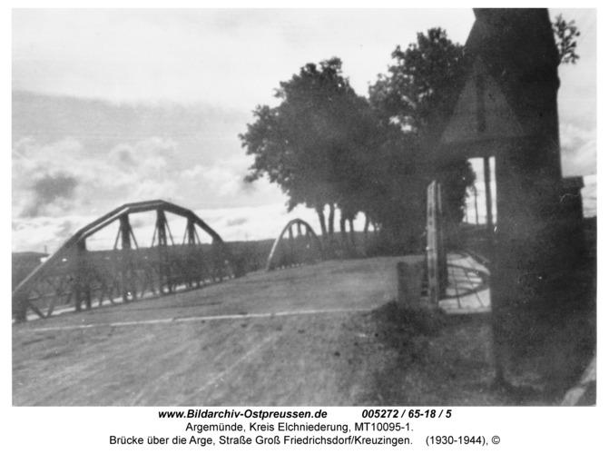 Argemünde, Brücke über die Arge, Straße Groß Friedrichsdorf/Kreuzingen