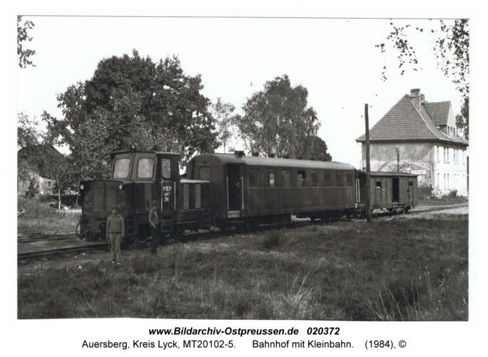 Auersberg, Bahnhof mit Kleinbahn
