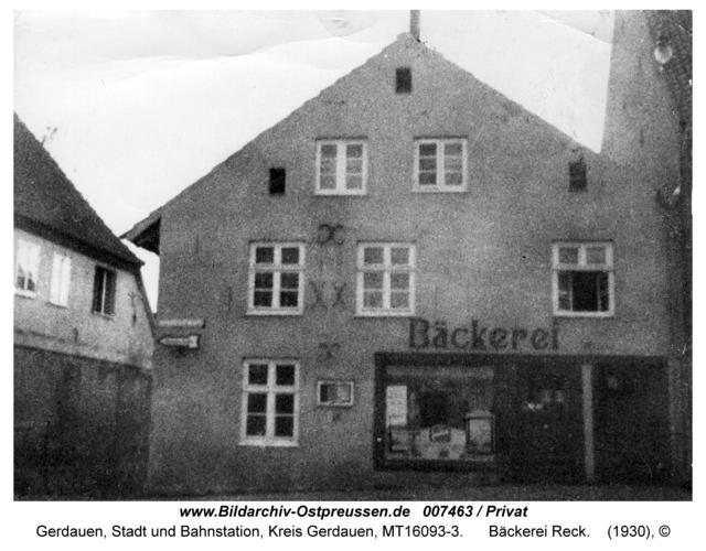 Gerdauen, Bäckerei Reck