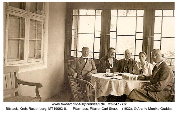 Bäslack, Pfarrhaus, Pfarrer Carl Sterz