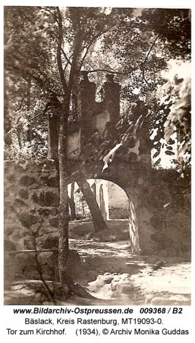 Bäslack, Tor zum Kirchhof