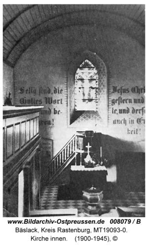 Bäslack, Kirche innen