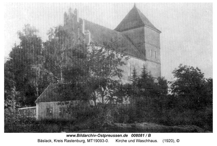 Bäslack, Kirche und Waschhaus
