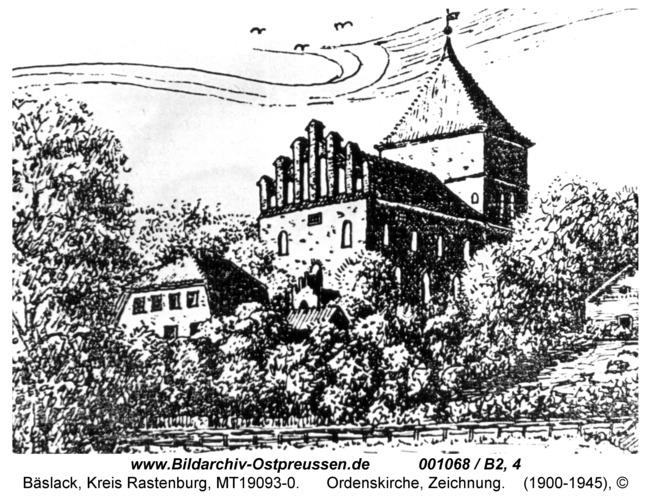 Bäslack, Ordenskirche, Zeichnung