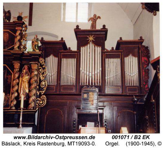 Bäslack, Kirche, Orgel