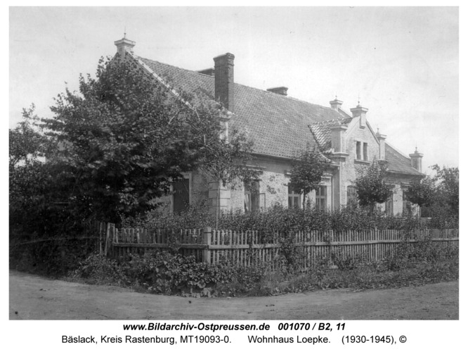 Bäslack, Wohnhaus Loepke