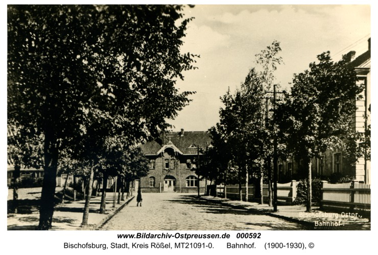 Bischofsburg, Bahnhof
