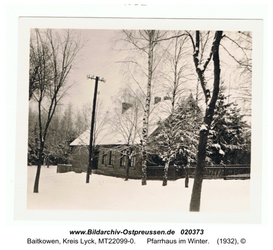 Baitenberg, Pfarrhaus im Winter