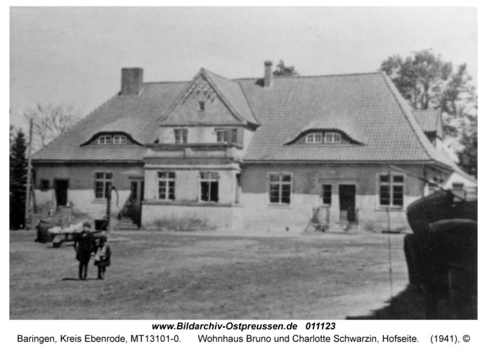 Baringen, Wohnhaus Bruno und Charlotte Schwarzin, Hofseite