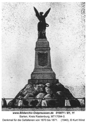 Barten, Denkmal für die Gefallenen von 1870 bis 1871