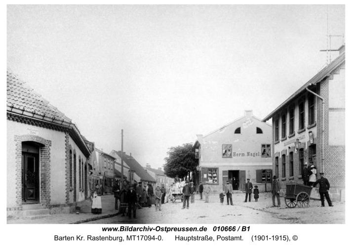 Barten, Hauptstraße, Postamt
