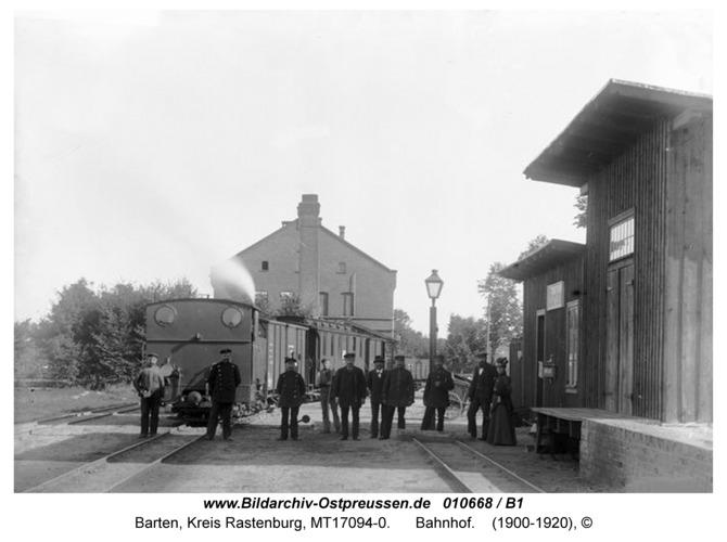 Barten, Bahnhof der Kleinbahn