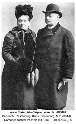 Barten, Domänenpächter Pachnio mit Frau