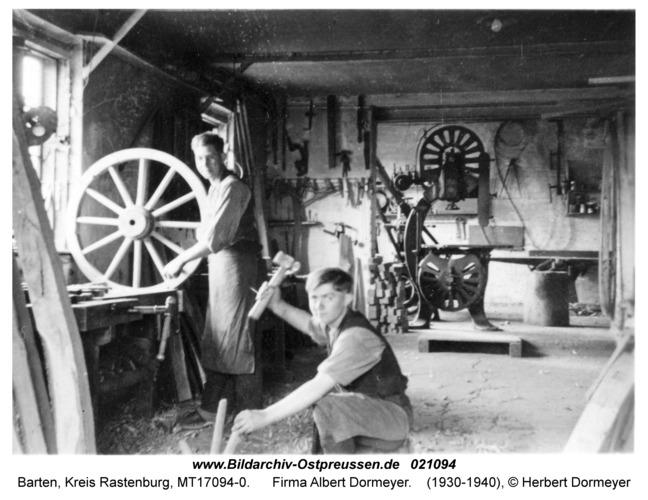 Barten, Firma Albert Dormeyer