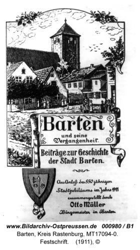 Barten, Festschrift von 1911