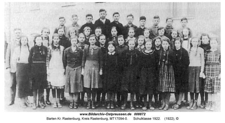 Barten, Schule, Klasse 1922