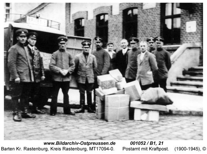 Barten, Postamt mit Kraftpost