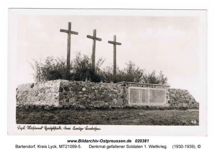 Bartendorf, Denkmal gefallener Soldaten 1. Weltkrieg