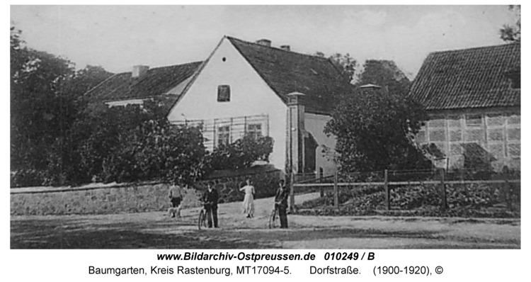 Baumgarten Kr. Rastenburg, Dorfstraße
